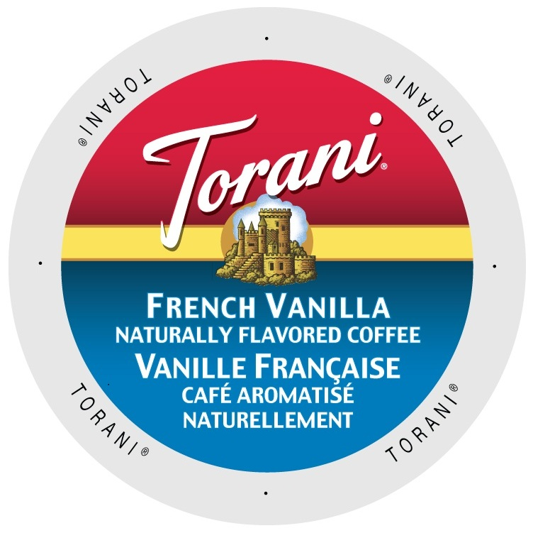 Torani Coffee French Vanilla, Single Serve Cup Portion Pack for Keurig K-Cup Brewers, 24 Count