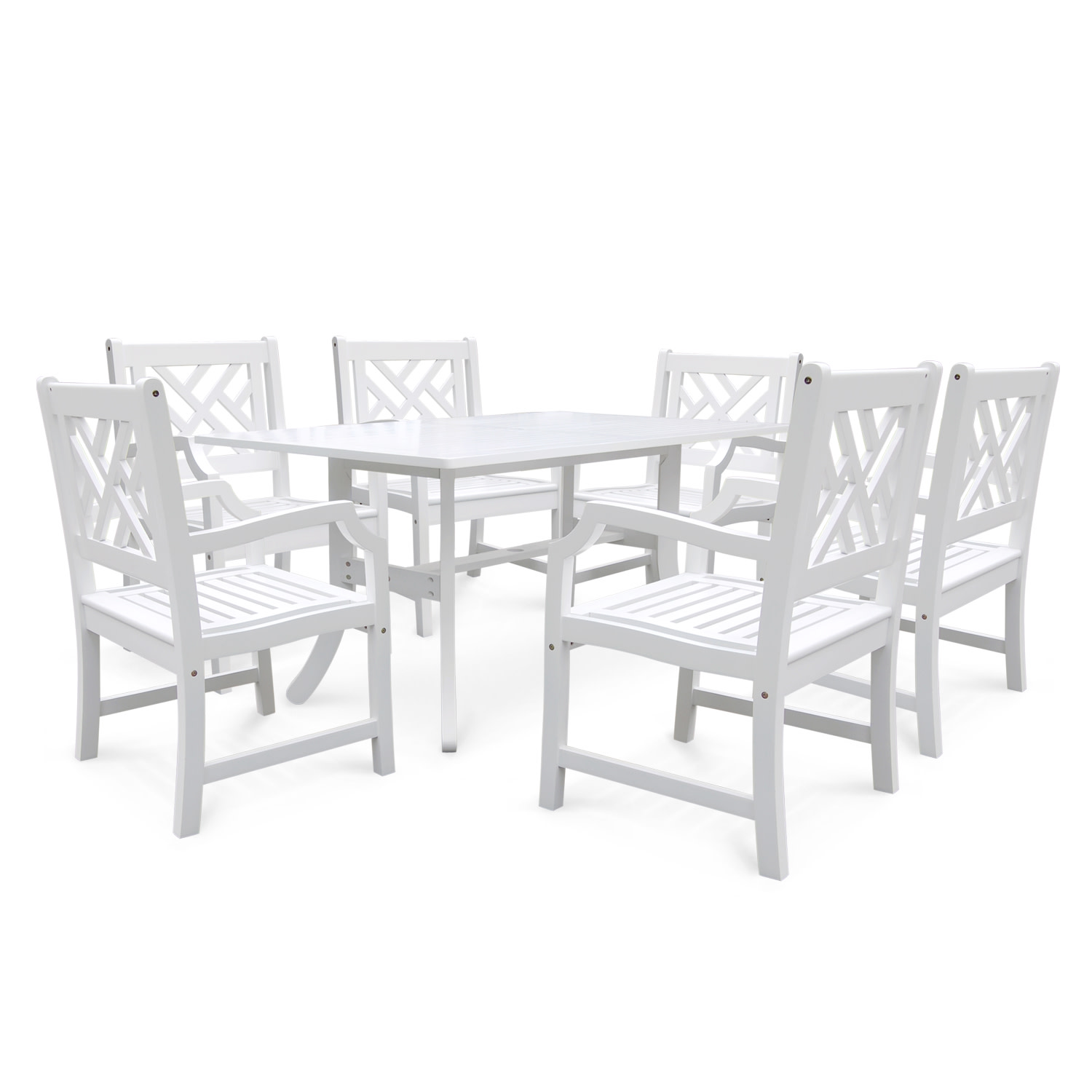 Vifah V1337SET3 Bradley Acacia Dining Set Including Chairs and Dining Table