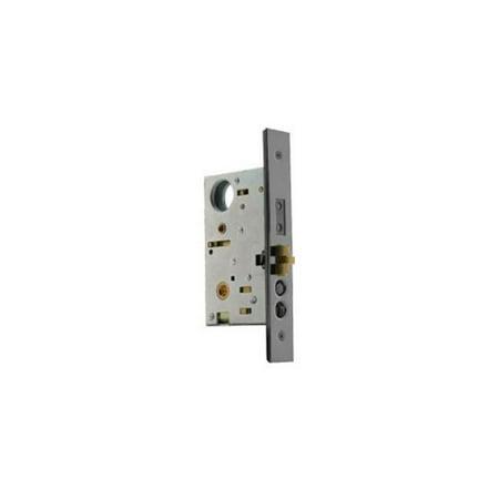 Baldwin 6021260LLS 2.75 in. Mortise Lock Left Hand Lever Strength Egress Entrance Backset Less Cylinder, Polished Chrome