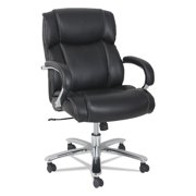 Alera Maxxis Series Big and Tall Leather Chair, Black, Supports up to 450 lb