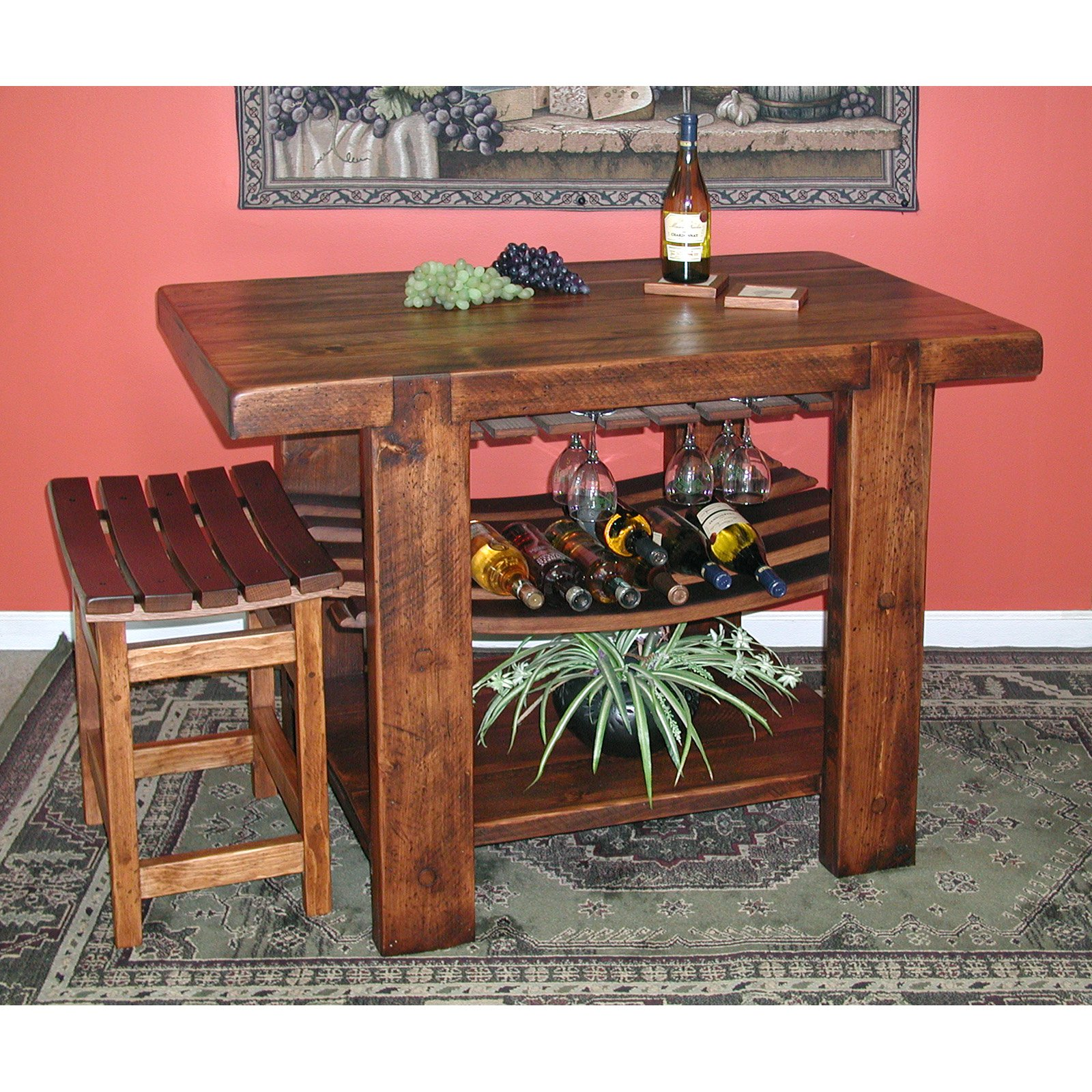 2 Day Designs Reclaimed Russian River Kitchen Island