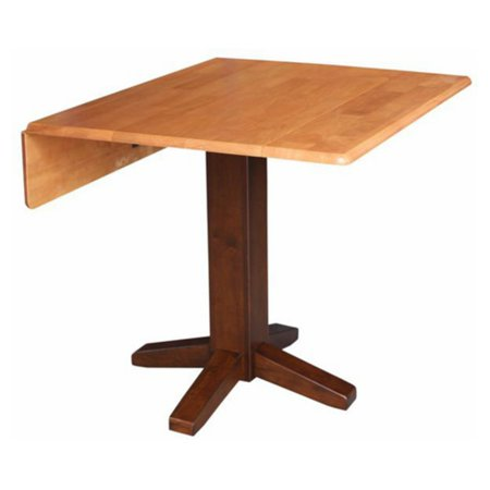 36 Square Dual Drop Leaf Dining Table