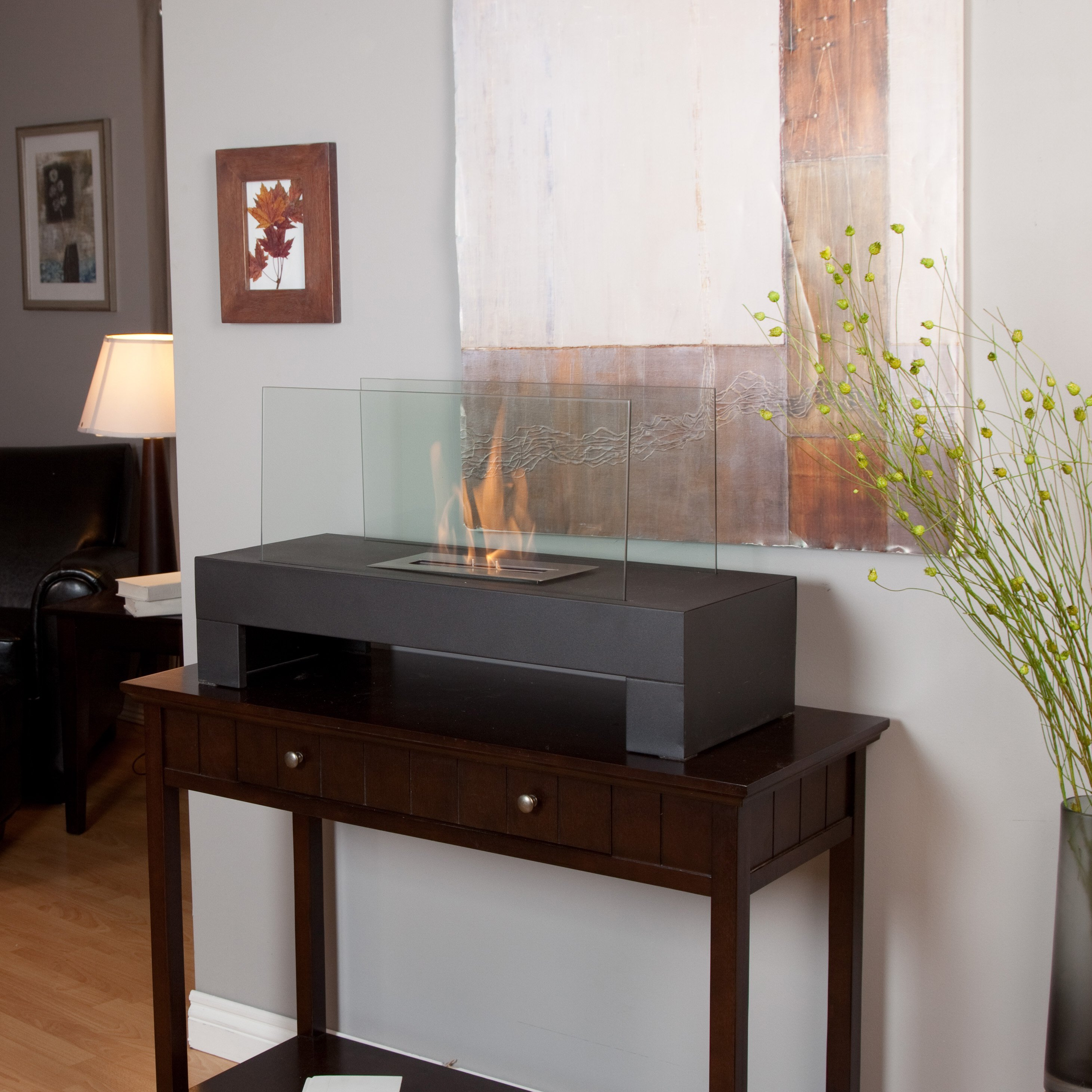 Anywhere Fireplace Gramercy Black Indoor / Outdoor Fireplace