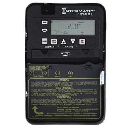 Intermatic ET8015C 7-Day 30-Amp SPST Electronic Astronomic Time Switch, 120-277 VAC, NEMA (Intermatic Time Switch)