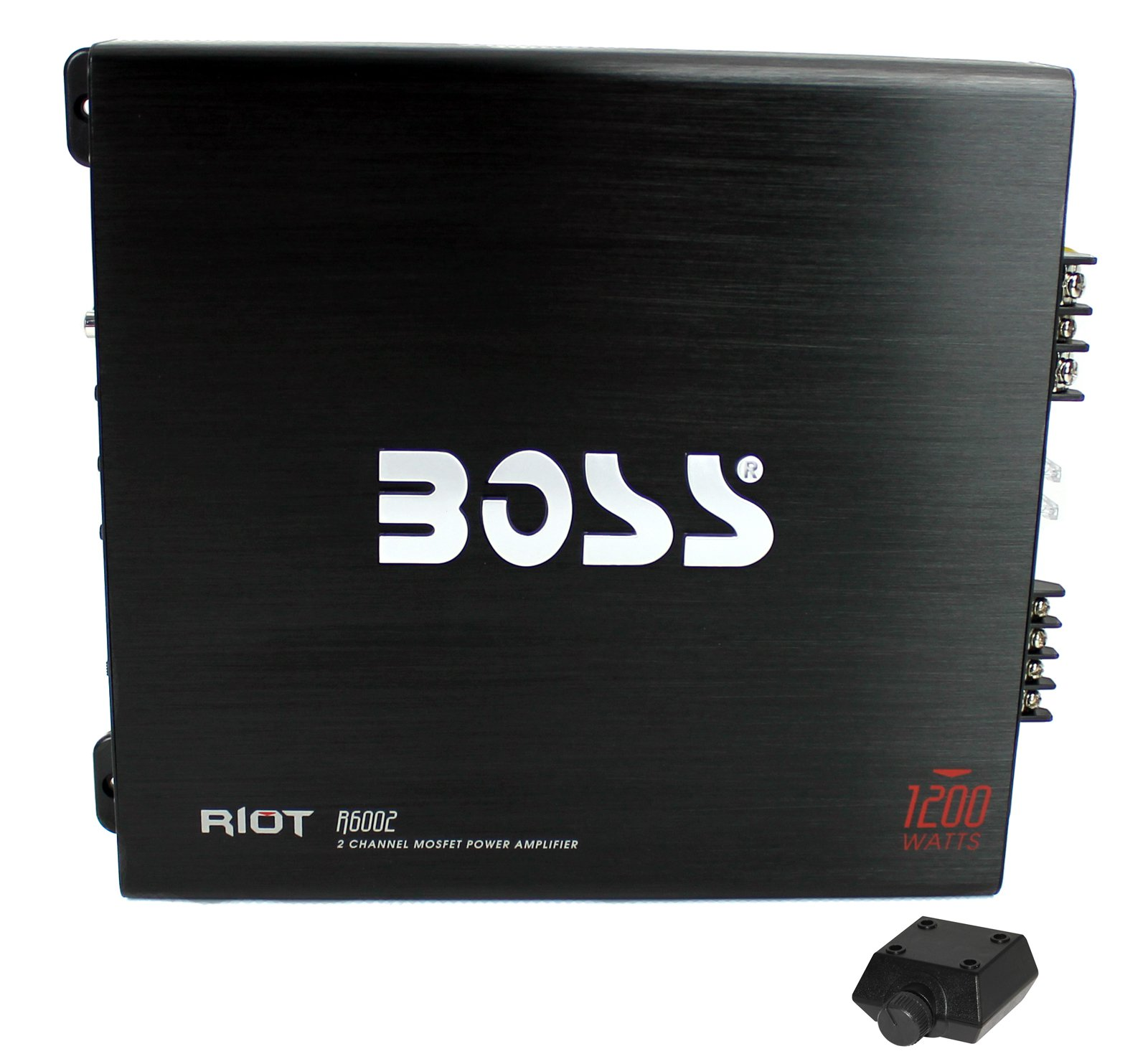 BOSS R6002 1200W 2-Channel MOSFET Power Car Audio Amplifier Amp + Bass Remote