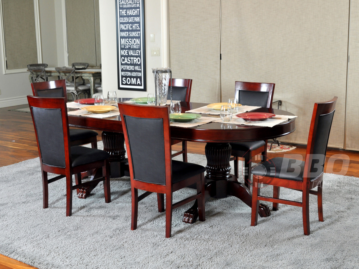 BBO Poker The Rockwell 7 Piece Poker Table Set w/ Dining Top and 6 Dining Chair - (Upholstered with black velveteen) - Walmart.com & BBO Poker The Rockwell 7 Piece Poker Table Set w/ Dining Top and 6 ...