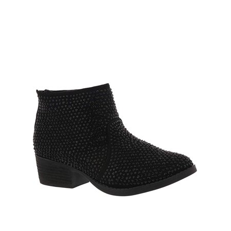 Very G Womens Blinged Closed Toe Ankle Fashion Boots - image 2 of 2