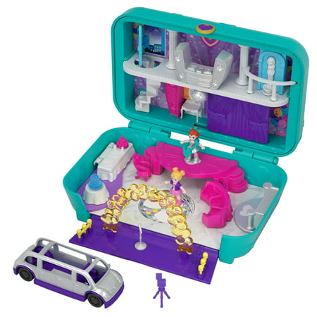 Polly Pocket Mini (Polly Pocket Hidden Places Dance Par-taay! Case Set with Accessories )