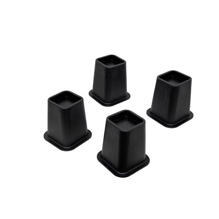 """Clay 5"""" Black Bed Risers, For Furniture, Beds, Tables, Chairs, Sofas (Set Of Four)"""