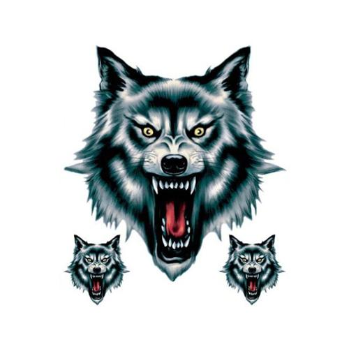 "6""X 8"" Decal, Three Wolfs"