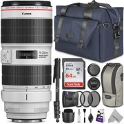 Canon EF 70-200mm f/2.8L IS III USM Lens w/ Advanced Photo and Travel Bundle