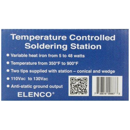 Elenco Soldering Station - 48 Watt With Iron Holder & Sponge - image 2 de 6