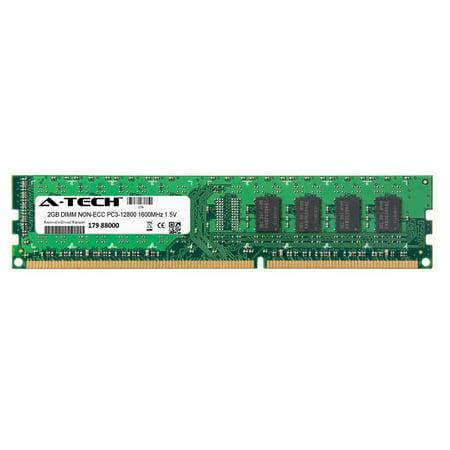 2GB Module PC3-12800 1600MHz 1.5V NON-ECC DDR3 DIMM Desktop 240-pin Memory