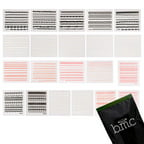 BMC 21pc Lace Decal Flower Manicure Decoration Style Nail Art Stickers Sheets