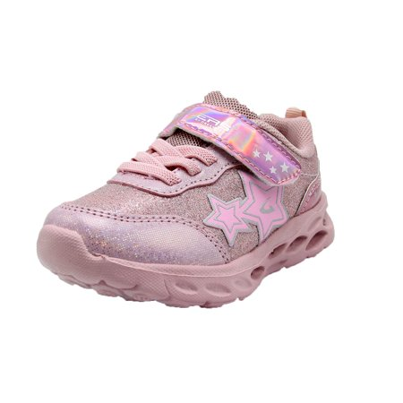 Geers Girls Toddler 3951 Light Up Lace Free Casual Sneakers Shoe - (5 M US Toddler, Pink)](Sneaker Boots Girls)