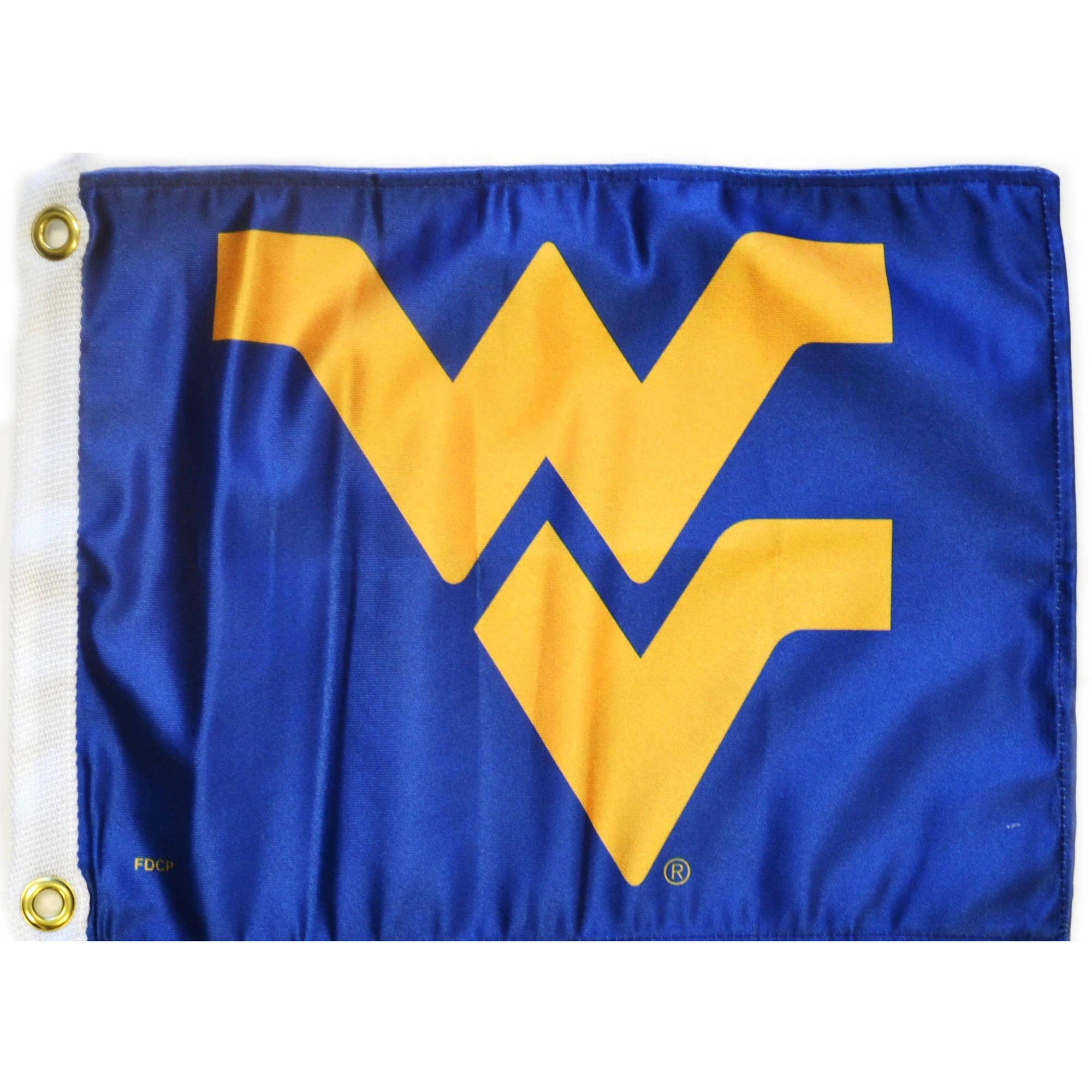 """Flagpole To Go 14"""" x 15"""" West Virginia Golf Cart Flag"""