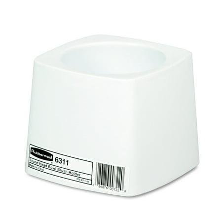 Plastic Brush Holder (Rubbermaid Commercial Holder for Toilet Bowl Brush, White)