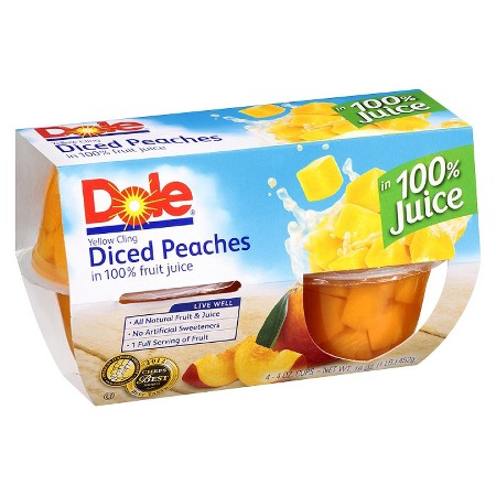 Dole Diced Peaches 4 oz