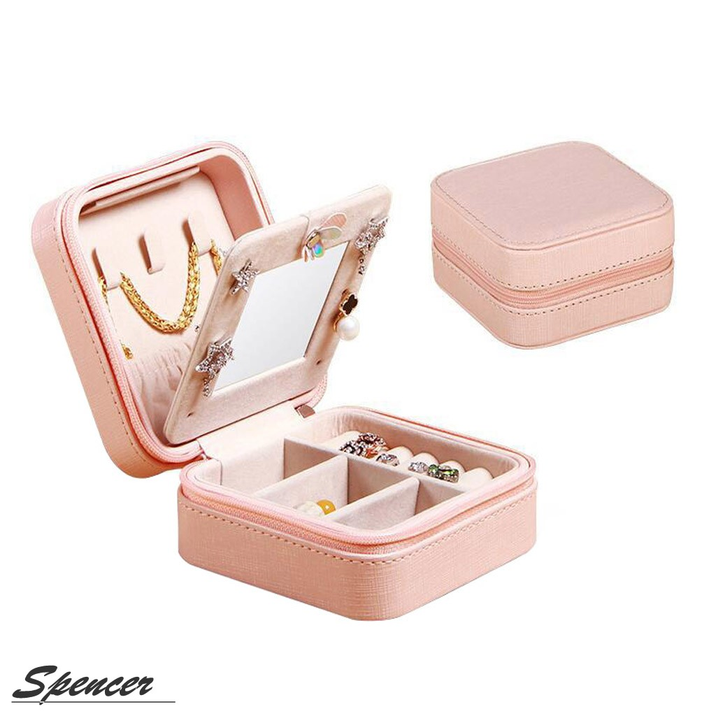 Spencer Mini Portable Leather Travel Jewelry