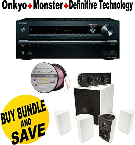 Onkyo TX-NR747 7.2-Channel Network A/V Receiver + Definitive Technology - Definitive Technology ProCinema 600 5.1