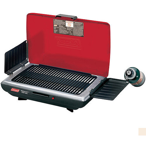 Enjoy easy outdoor grilling during camping trips, picnics, and tailgating parties with the Coleman Party Propane Grill. This BBQ grill combines a compact, portable design with convenient features that facilitate grilling in tough conditions.
