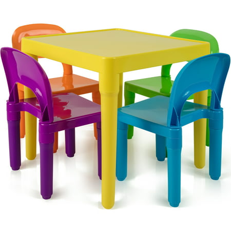 Den Haven Kids Table and Chairs Play Set Colorful Child Toy Activity Desk for Toddler Sturdy