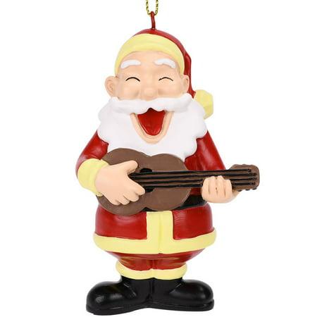 Guitar Christmas Tree Ornament - Tree Buddees Rockin Around the Christmas Tree Guitar Playing Santa Ornament