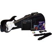 Silvertone Revolver Electric Guitar Package with Instructional DVD, Liquid Black
