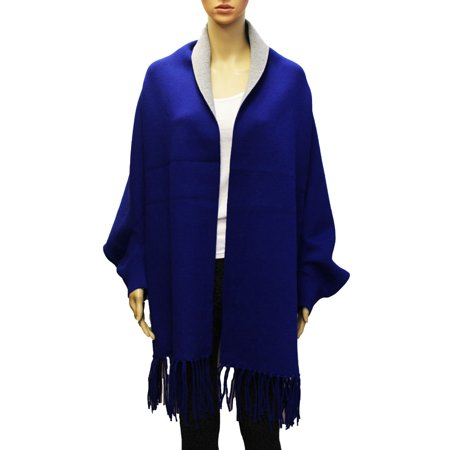 41016cd26 Oussum - Royal Blue Winter Shawl Wraps for Women Solid Cargdigan Poncho  Scarfs for Ladies Soft Wraps Fall Ponchos Gifts Online by Oussum -  Walmart.com