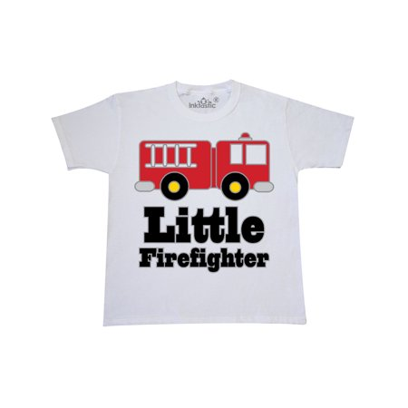 Little Firefighter Fire Engine Youth T-Shirt](Firefighter Kids)