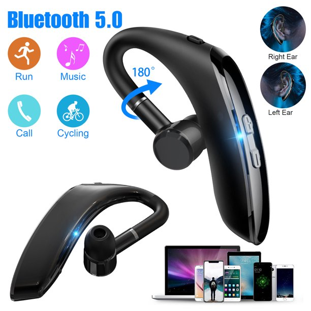 Tsv Bluetooth 5 0 Earpiece 35hrs Play Time Wireless Business Headset Noise Canceling Earbuds Car Driving Headphones W Built In Mic Compatible With Iphone Android Cell Phones 180hrs Standby Time Walmart Com