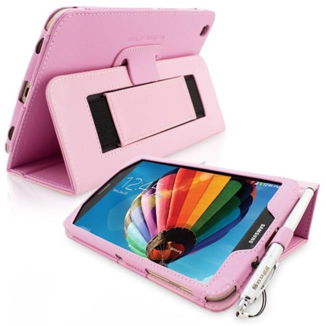 Snugg B00EQ3GTJI Galaxy Tab 3 8. 0 Case Cover and Flip Stand, Candy Pink Leather