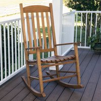 Deals on Mainstays Outdoor Natural Wood Slat Rocking Chair