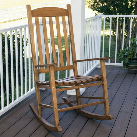 mainstays outdoor wood slat rocking chair. Black Bedroom Furniture Sets. Home Design Ideas