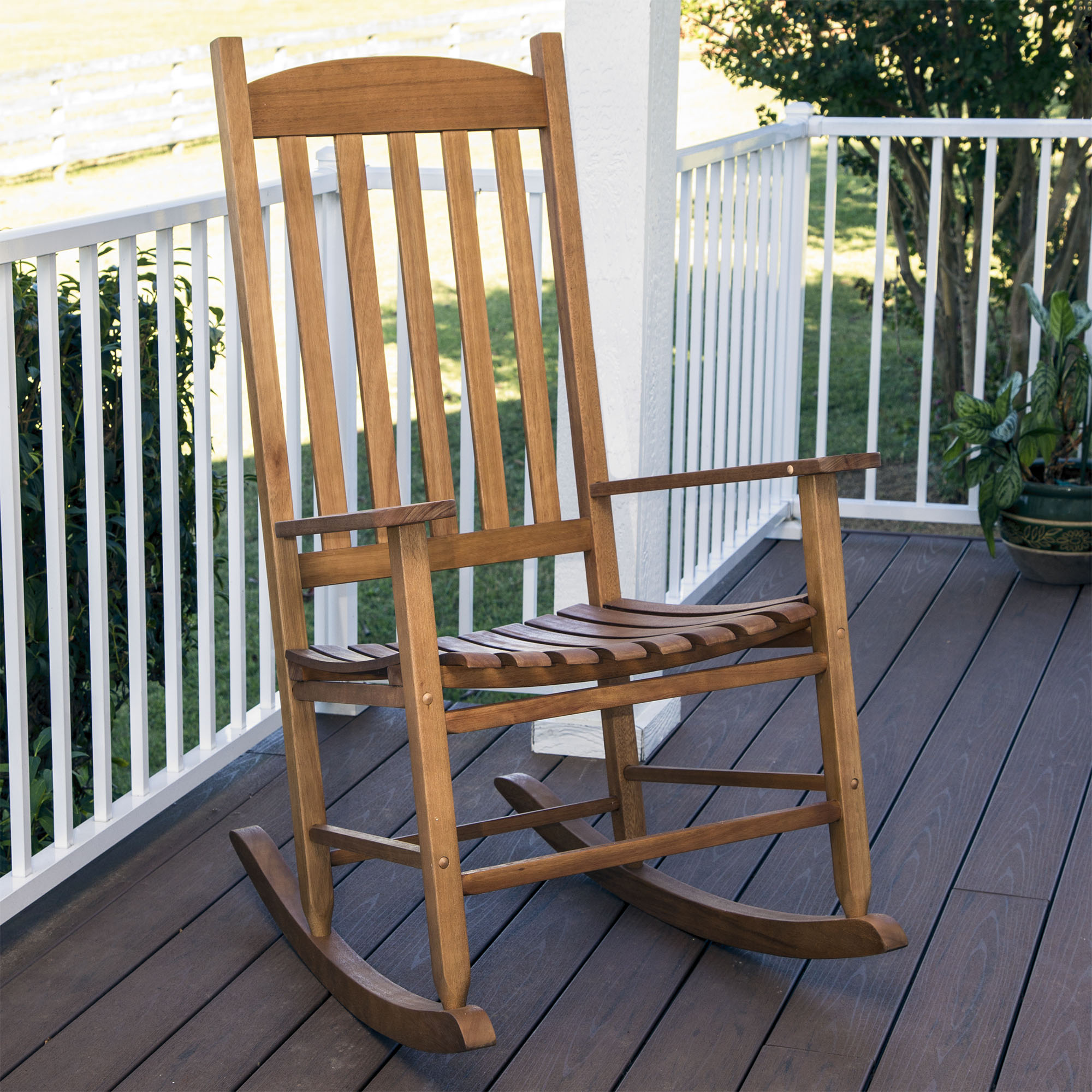 Mainstays Outdoor Natural Wood Slat Rocking Chair