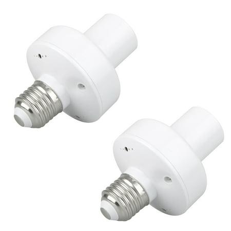 2-pack Wireless Remote Control E27 Lamp Holder Light Bulb Cap Socket Switch Screw