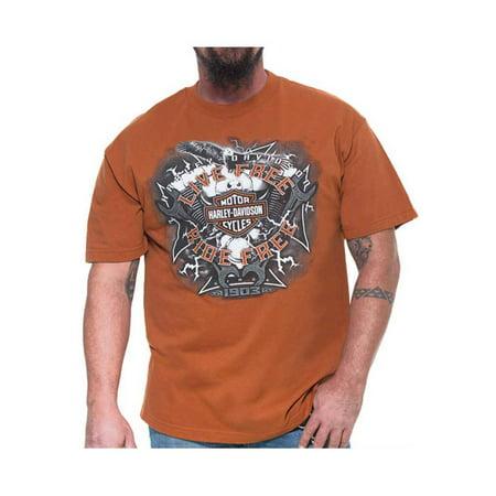 - Harley-Davidson Men's Electric Bar & Shield Short Sleeve T-Shirt, Texas Orange, Harley Davidson