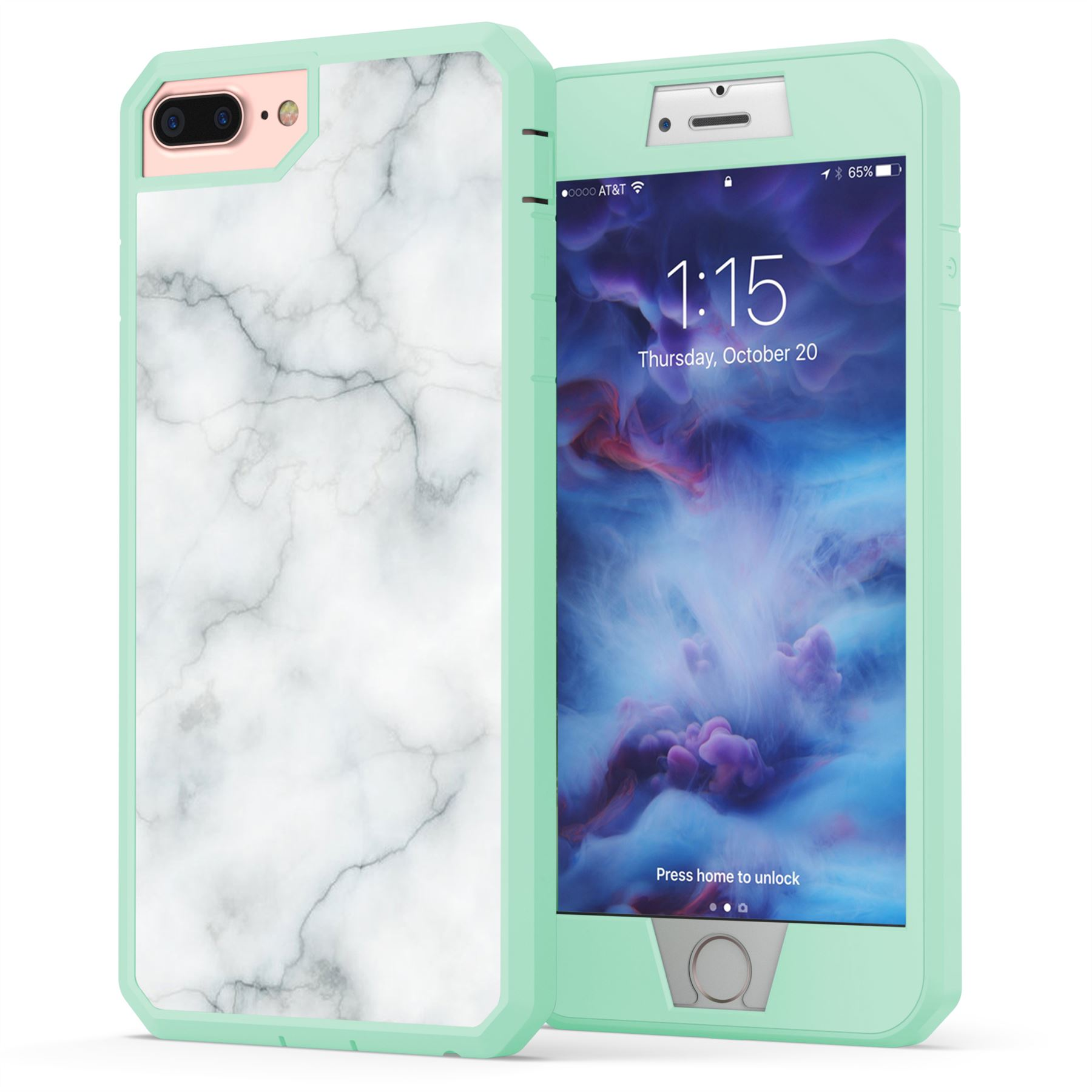 iPhone 7 Plus Marble Case, True Color White Marble [Stone ...
