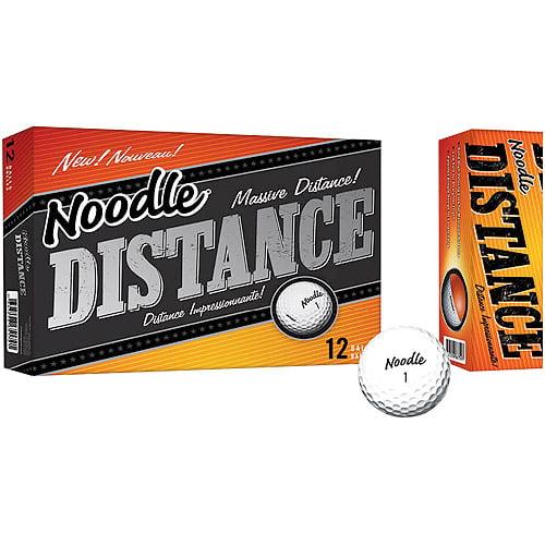 Noodle Distance Golf Balls, 12pk, White