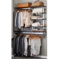 Closet System with Adjustable Shelves in Espresso (48 in. W x 11.75 in. D x 84 in. H (77 lbs.))