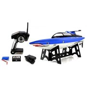 Velocity Toys Great White Shark 2.4GHz 15 MPH RTR Ready to Run Electric RC Speed Boat