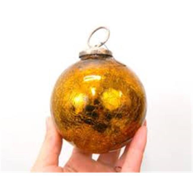 Vickerman M155637 7 in. Honey Gold Shiny Mercury Finial Ornament - 3 per Boxx - image 1 de 1