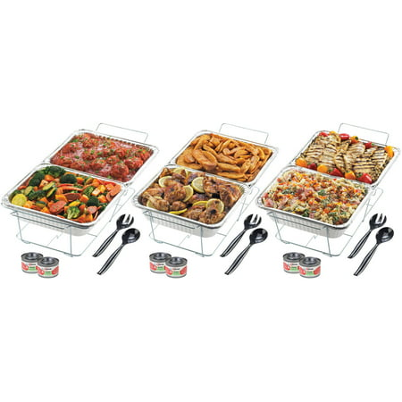 Sterno 70222 24-Piece Disposable Party Set (Party Warmers)