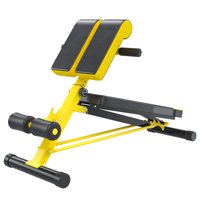 Soozier Upgraded Multi-Functional Hyper Extension Bench Dumbbell Bench Adjustable Roman Chair Ab Sit up Decline Flat