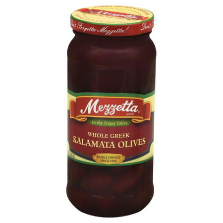 Greek Kalamata Olives (Mezzetta Whole Greek Kalamata Olives, 10 Oz (Pack of 6) )