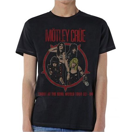 29a50a03bd0 Global Merchandising - Motley Crue Shout at the Devil 83-84 Tour Vintage  Men s Black T-Shirt - Walmart.com