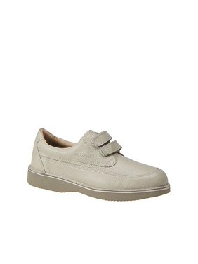 Eva-Tech Mens Walkabout Leather Low Top   Walking Shoes, bone, Size 10.5