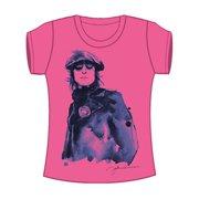 Beatles  Nostalgic Girls Jr Tissue Tee Pink