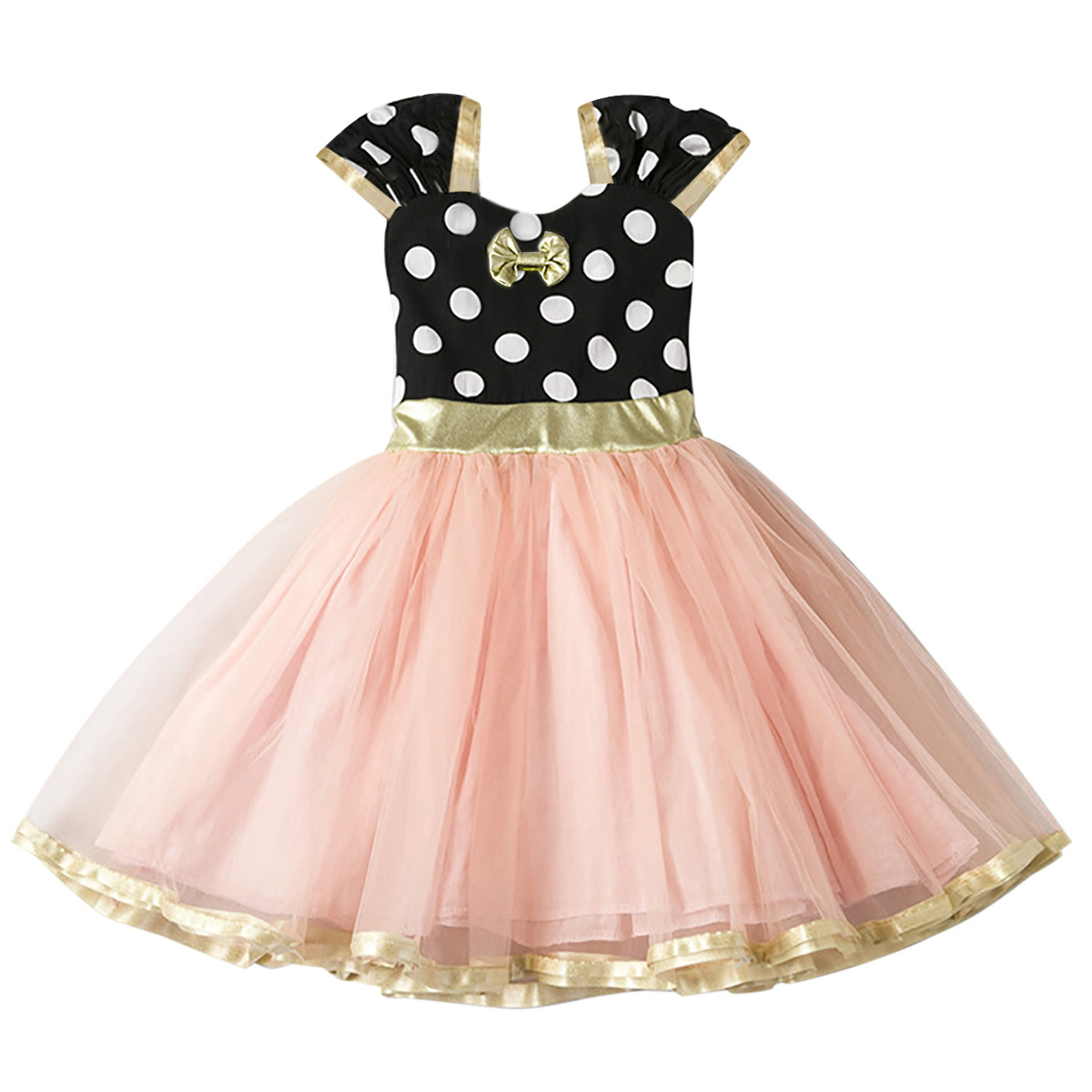 Minnie Mouse Costume Fancy Dress Up for Kids Baby Girls Carnival Party Cosplay