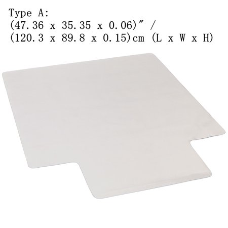Zimtown 2018 Hot Pvc Chairmat Floor Protector Desk Carpet